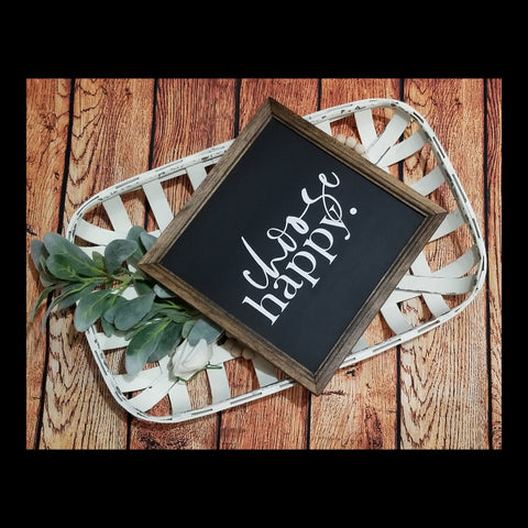 choose happy sign, choose joy,  decor, happy sign, inspirational decor, farmhouse sign, gallery wall decor, choose happy sign