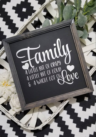 Family a little bit of crazy sign, wood Family sign, definition of family sign,  sign, gallery wall sign, family love sign