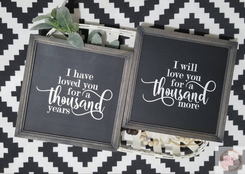 A thousand years sign set