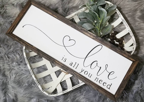 Love is all you need sign, master bedroom decor, over the bed sign, bedroom sign, bedroom decor, farmhouse bedroom sign