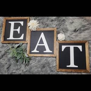 EAT sign, eat sign set of 3