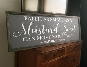 Faith as small as a mustard seed sign