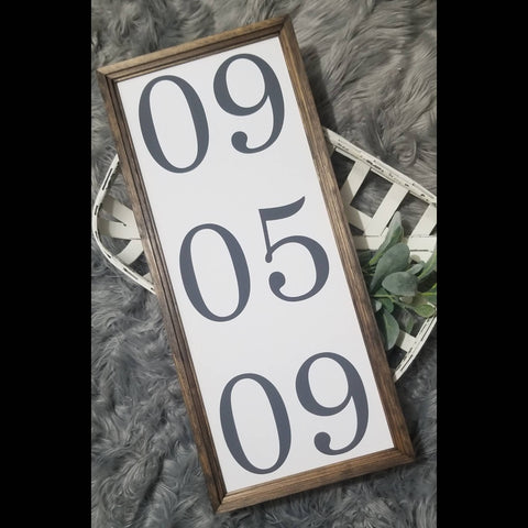 Anniversary date sign, Important date