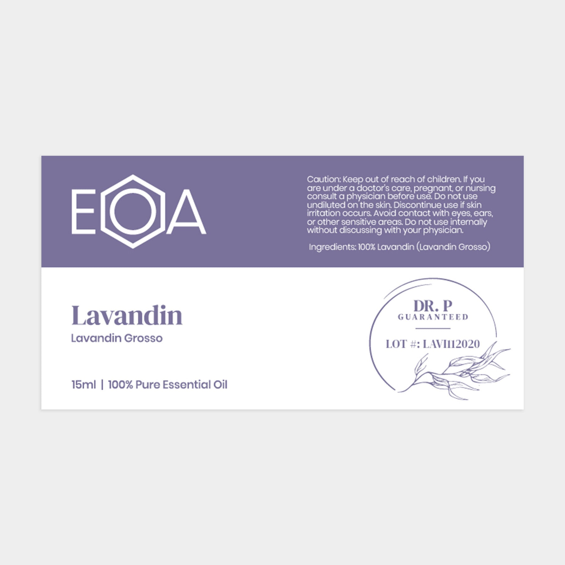 Lavandin Essential Oil- 15 ml