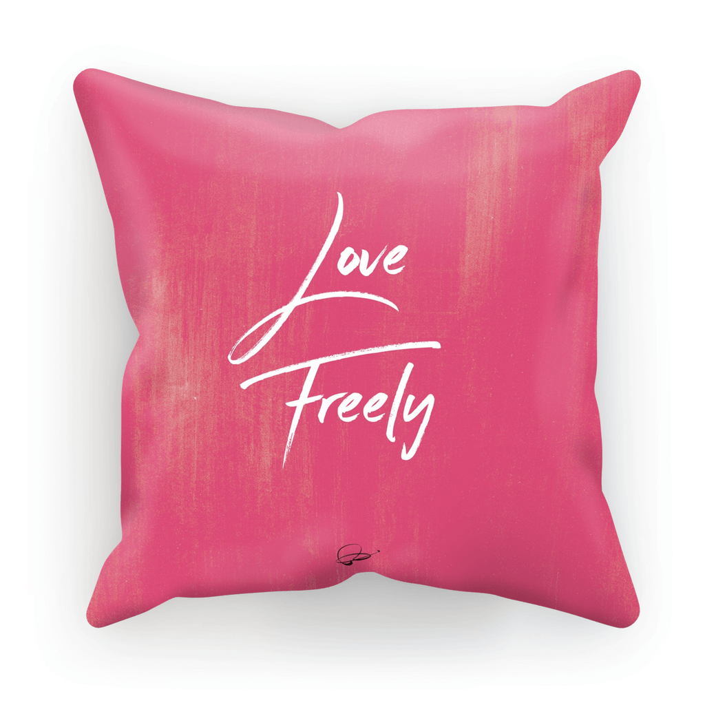 Love Freely Pink Decorative Pillow -Zea Design Collection ...