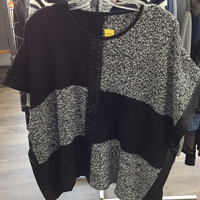 Empress Poncho black/Grey