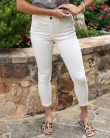 Grace & Lace - GL-059 - Non Distressed White Cropped Jeggings