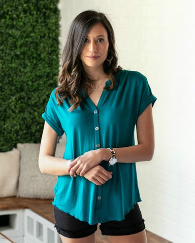 Grace & Lace - GL-056 - Button Up Crepe Top
