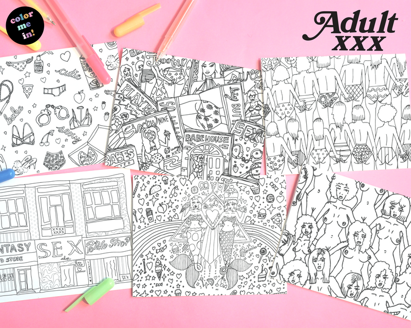 Adult XXX Postcard 6-Pack