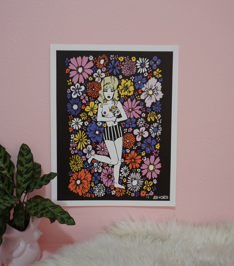 Flower Babe Art Print