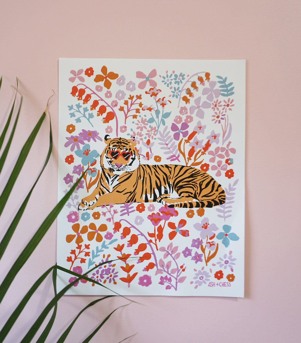 Flower Tiger Art Print