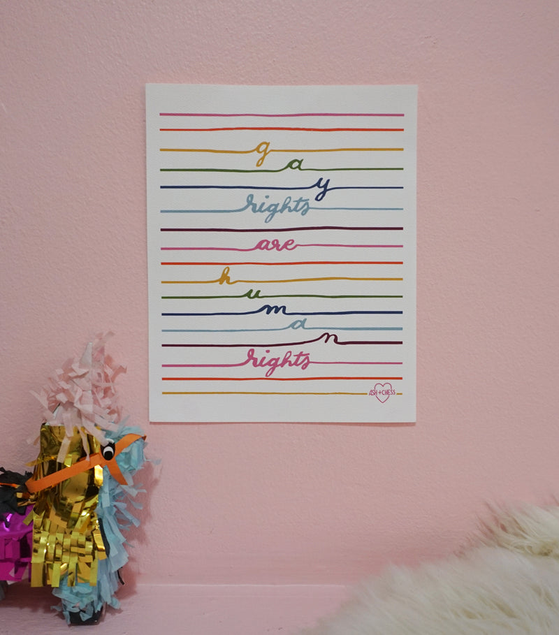 Gay Rights Small Art Print