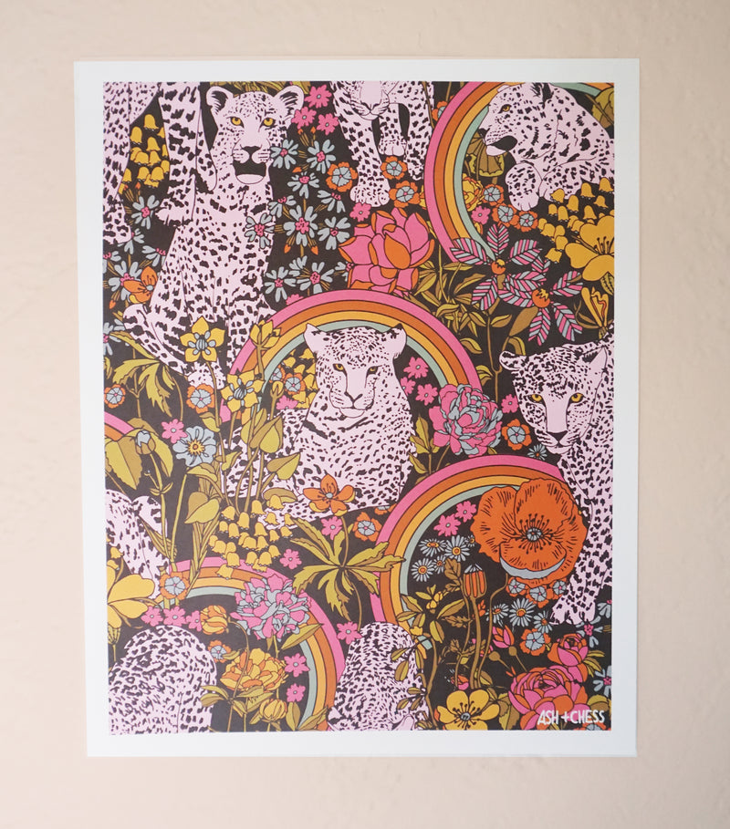 Animal Kaleidoscope Art Print