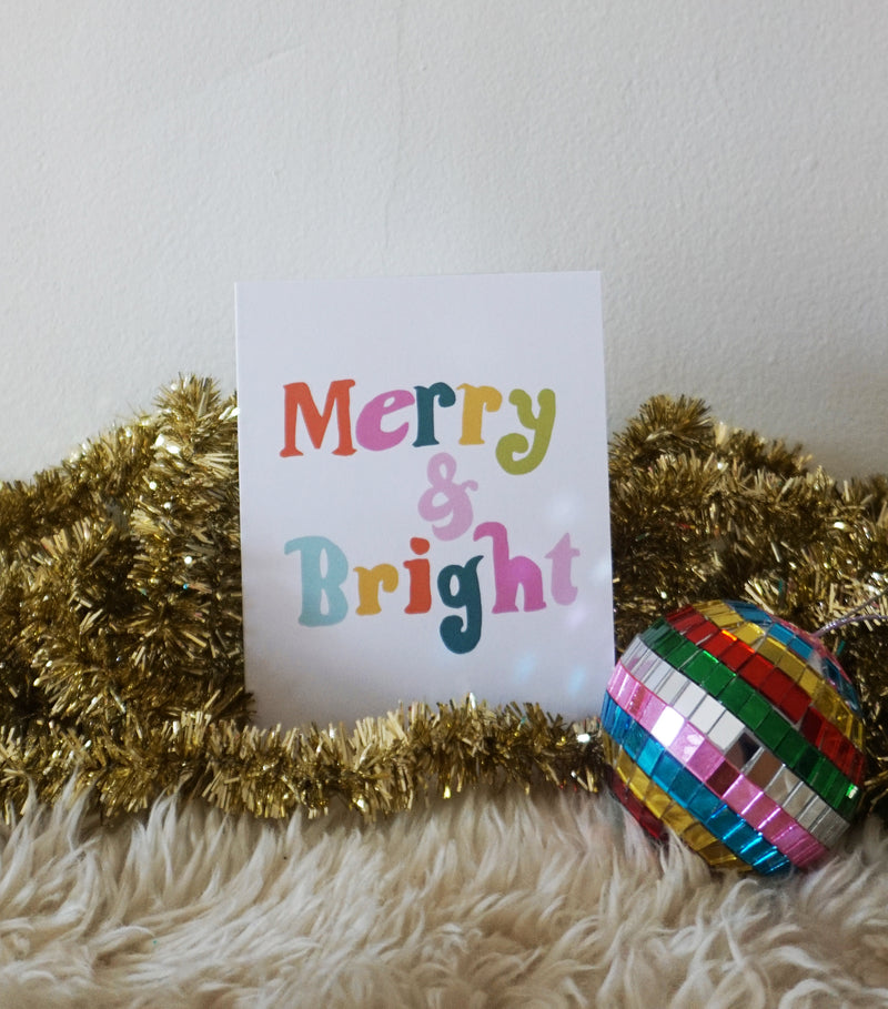 Merry and Bright Text