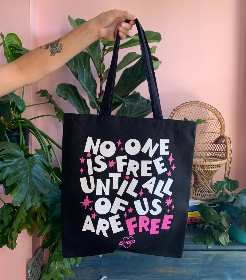 No One Is Free Tote Bag