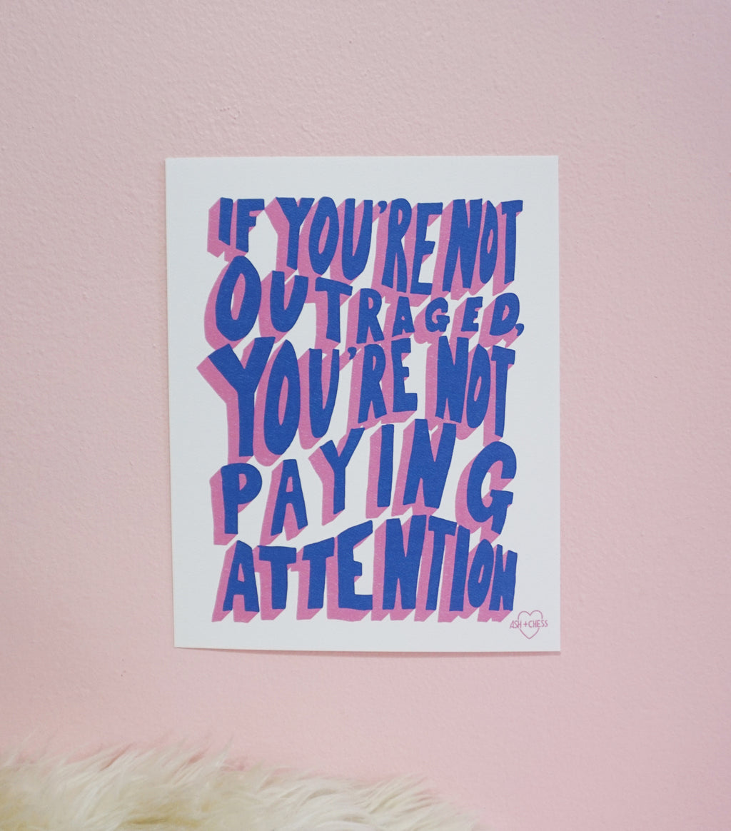 Outraged Small Art Print