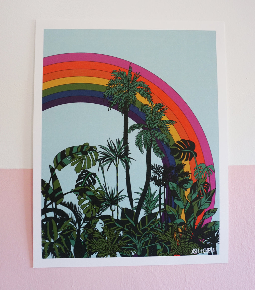 Rainbow Palms Art Print