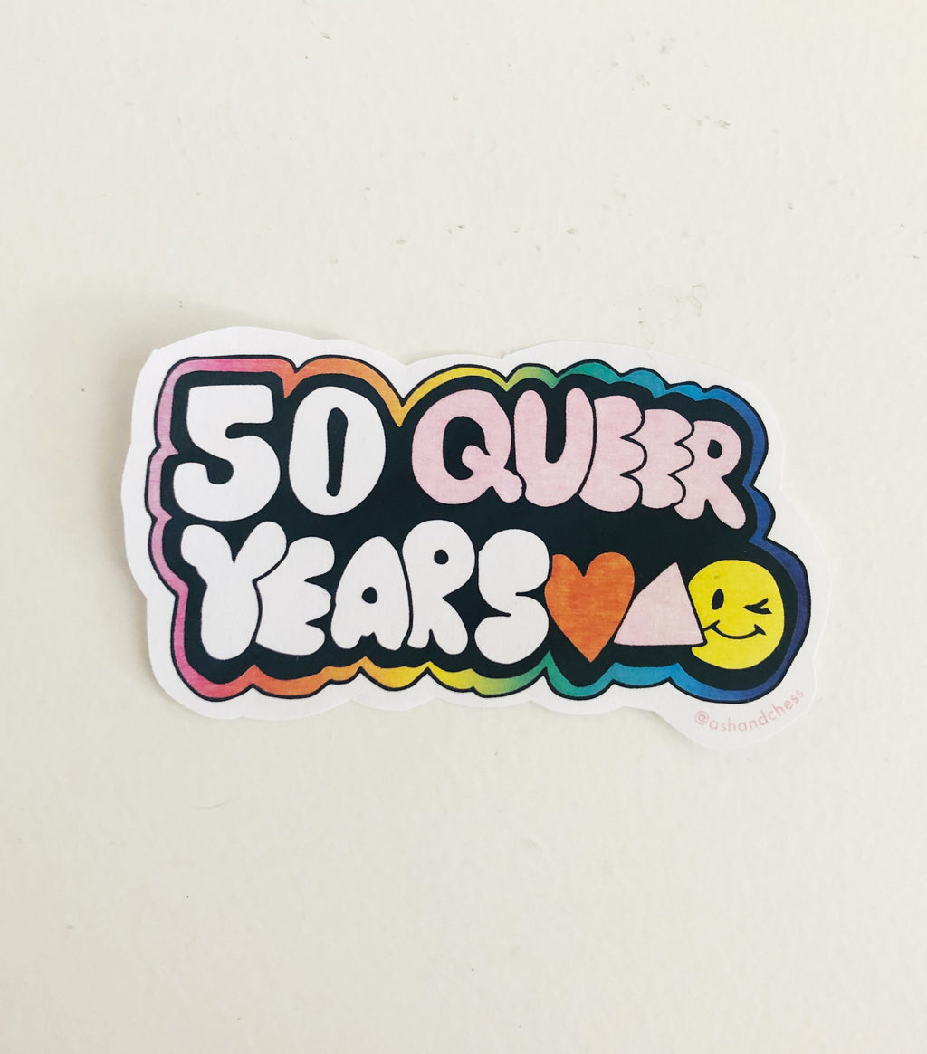 50 Queer Years Sticker