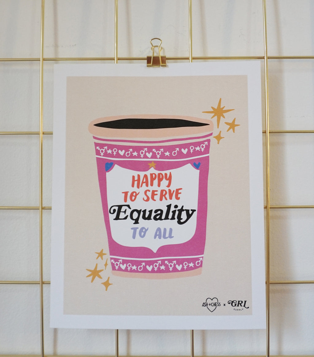 Equality Coffee Art Print