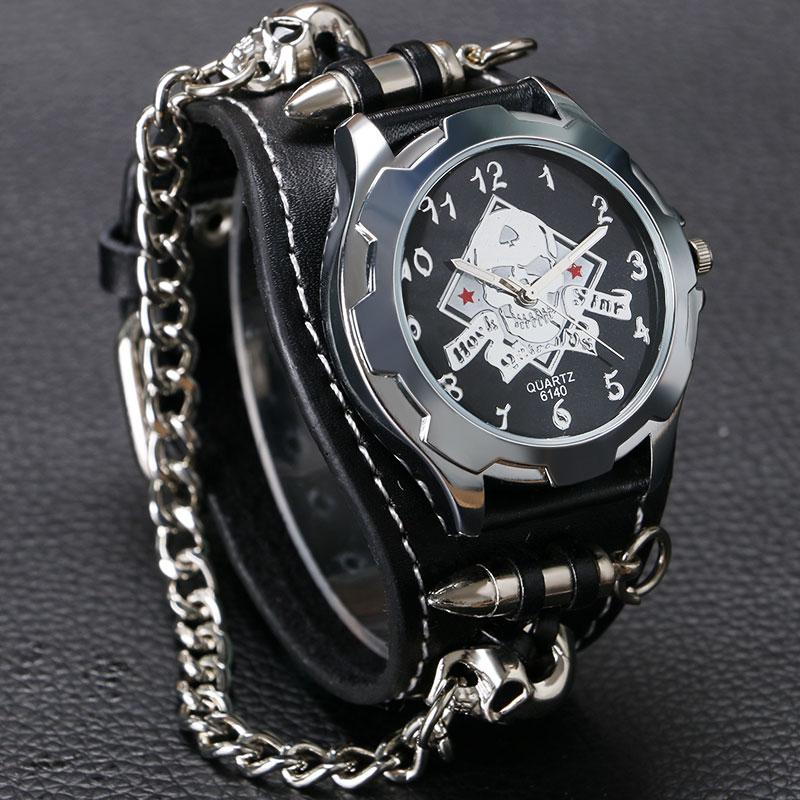Skull Design Bracelet Watch