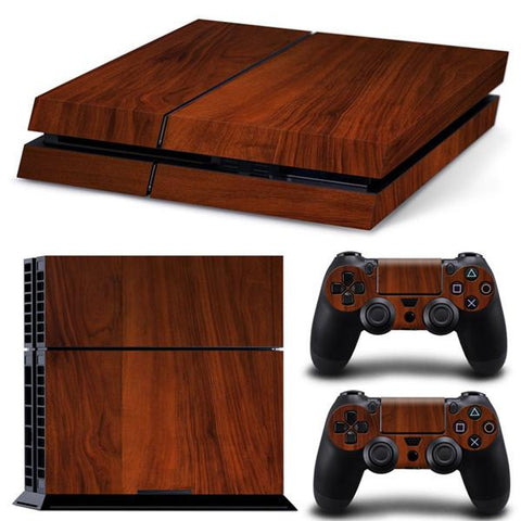 [ Best ] - Wooden Grain Sticker for PS4 Set
