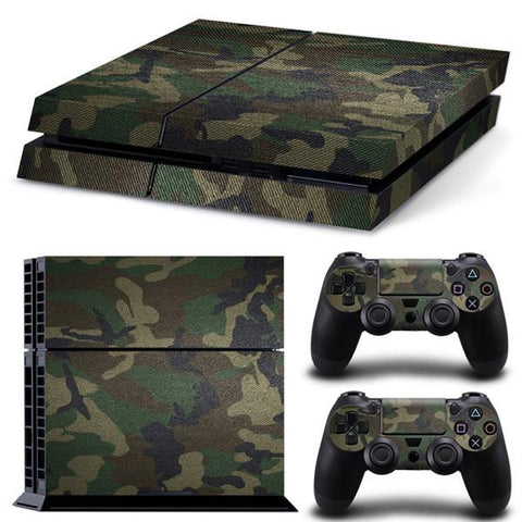 [ Best ] - Camouflage Sticker for PS4 Set