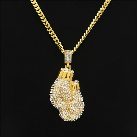 Exclusive Gold Boxing Gloves Pendants