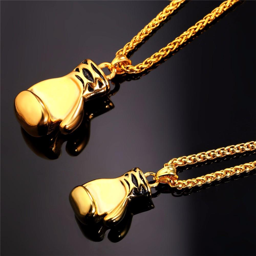 Bold and Beautiful Boxing Glove Necklaces