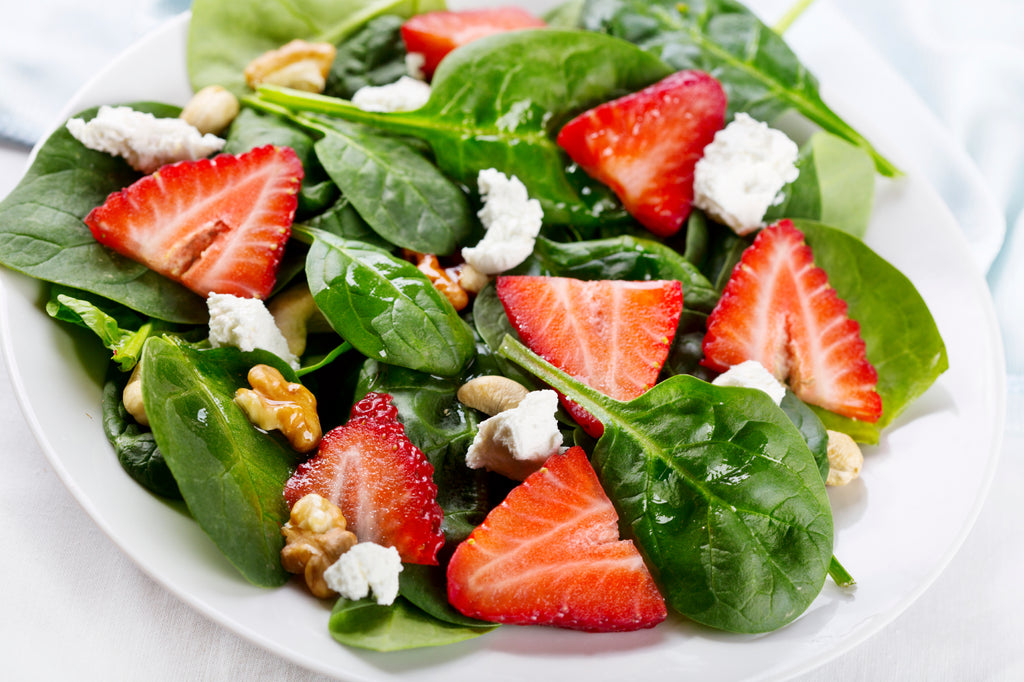 Strawberry salad withOrganic Sweet Balsamic Reduction