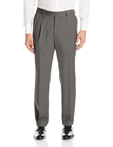Men's Pleated Easy Care Dress Pant with Hidden Flex Waistband