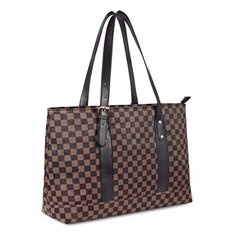 Checkered Tote Bag for Women's  Shoulder Bags