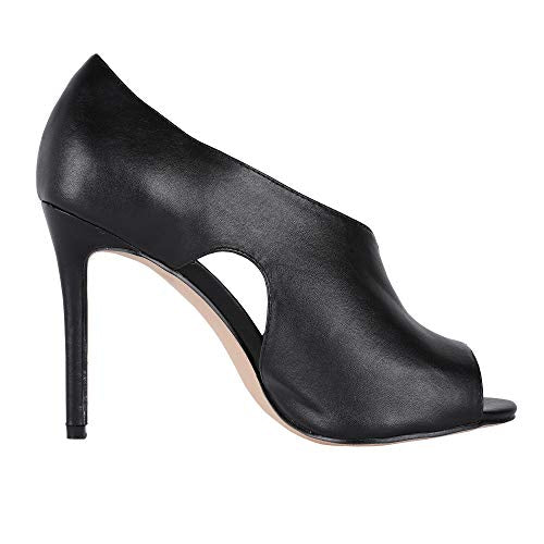 Womens High Heels Sandals Side Cutout Stiletto Open Toe Slip On