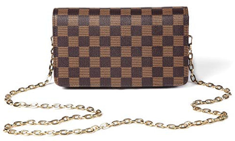 Checkered  Leather Handbags