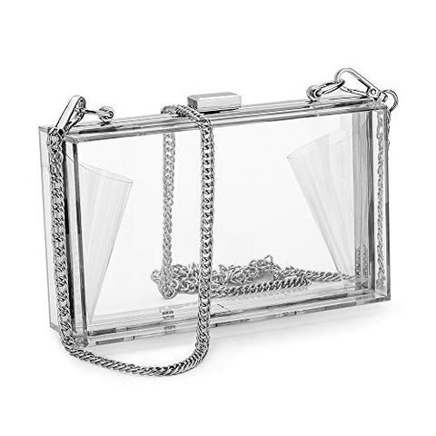 Clear Clutch Transparent Crossbody Purse Evening Bag