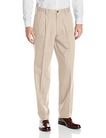 Men's Big and Tall Signature Khaki Pleated Pant
