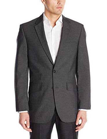 Men's Houndstooth Straight Fit 2-Button Side Vent Suit