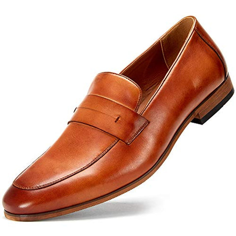 Genuine Leather Bussiness Formal Shoes for Men, Slip on