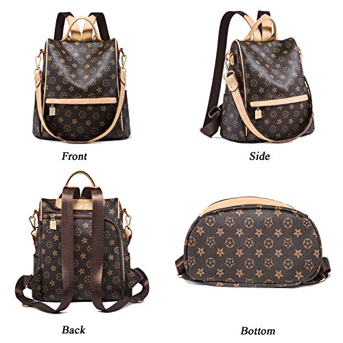 Fashion Leather Ladies Rucksack Crossbody Shoulder Bag 2pcs Purses Backpack Set