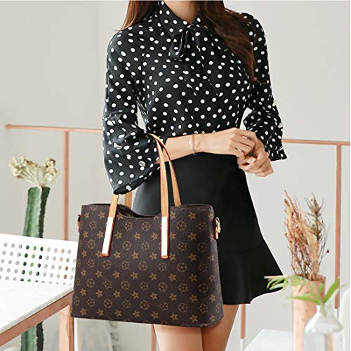 Synthetic Leather Lady Top Handle Handbags Set