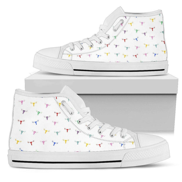 Rainbow Uterus Confetti High Tops