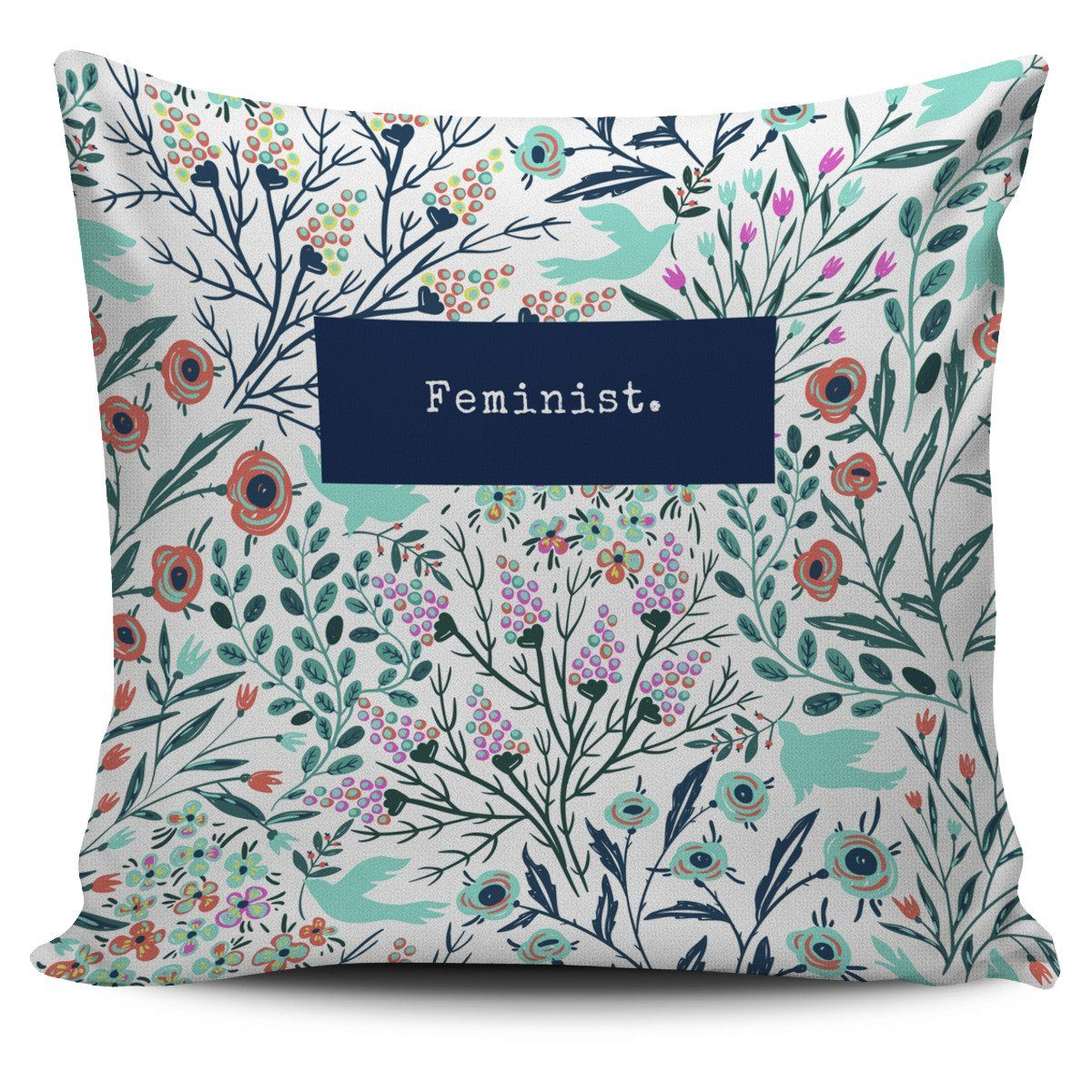 """Feminist."" Pillow Cover"