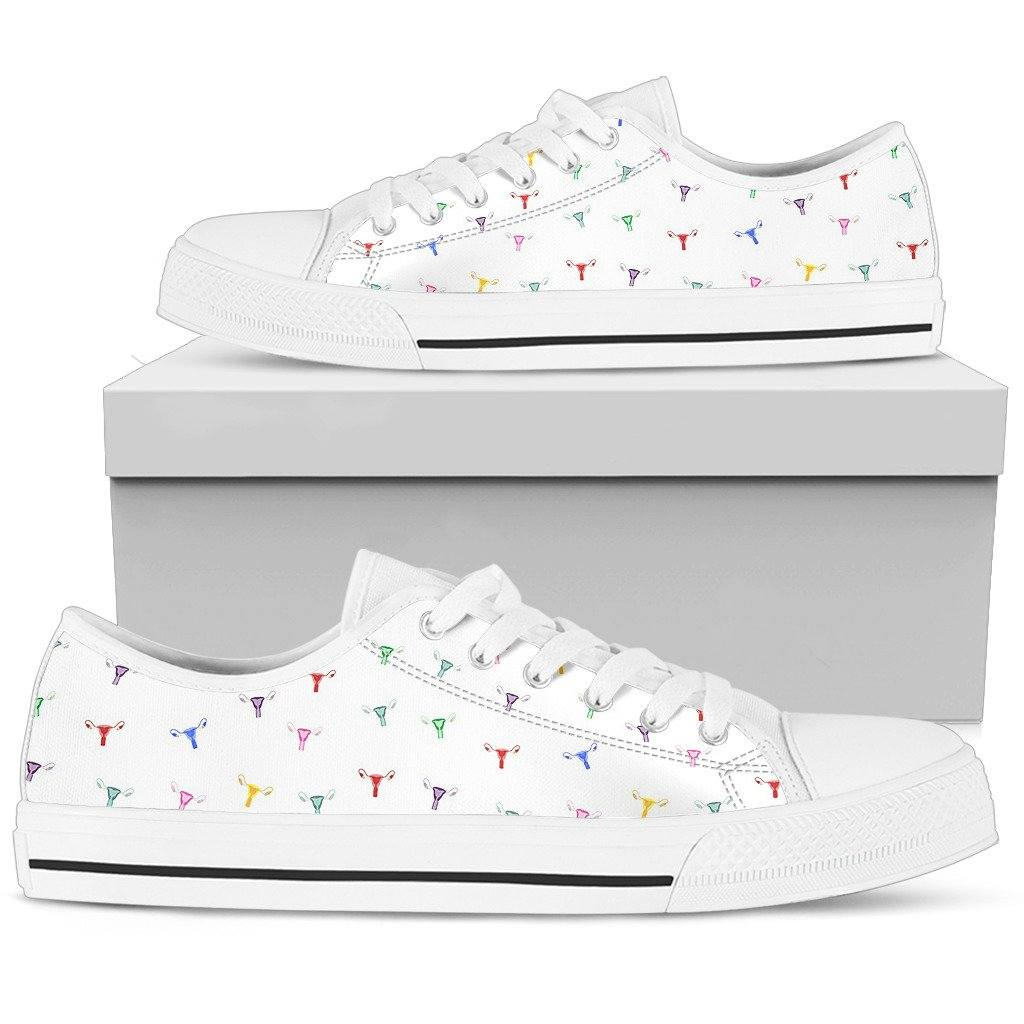 Rainbow Uterus Confetti Low Tops