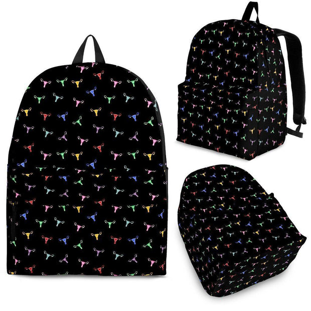 Rainbow Uterus Confetti Backpack