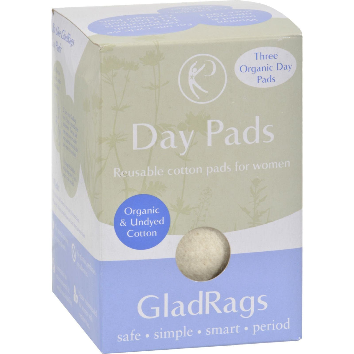 GladRags Organic Cotton Day Pad 3-Pack