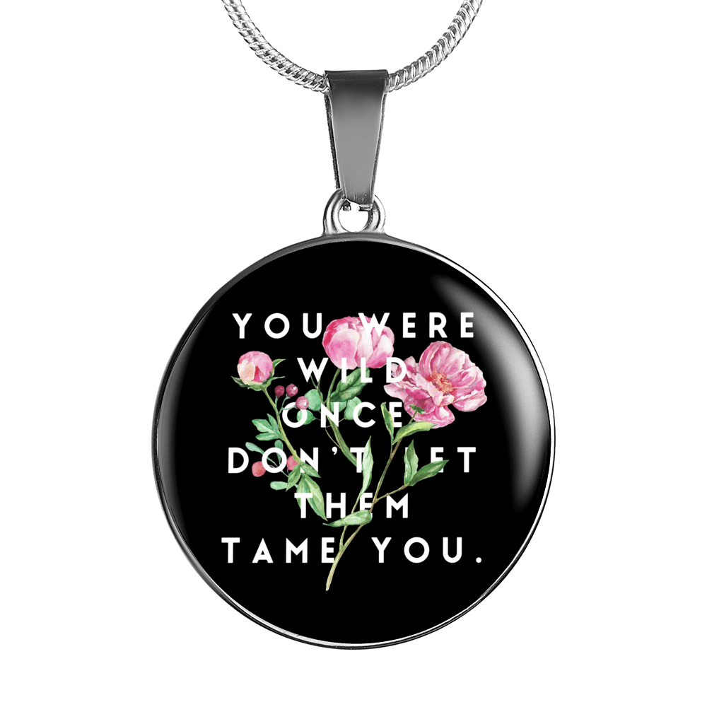 """Don't let them tame you."" Luxury Bangle / Necklace - Black"