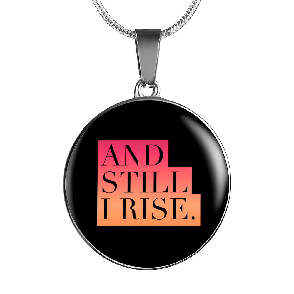 """And still I rise."" Luxury Bangle / Necklace - Pink"