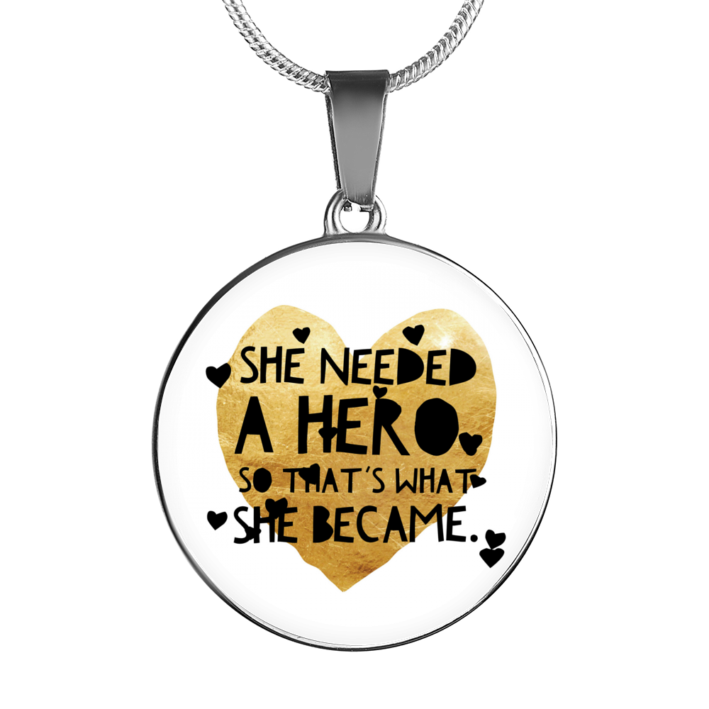 """She needed a hero, so that's what she became."" Luxury Bangle / Necklace - Gold"