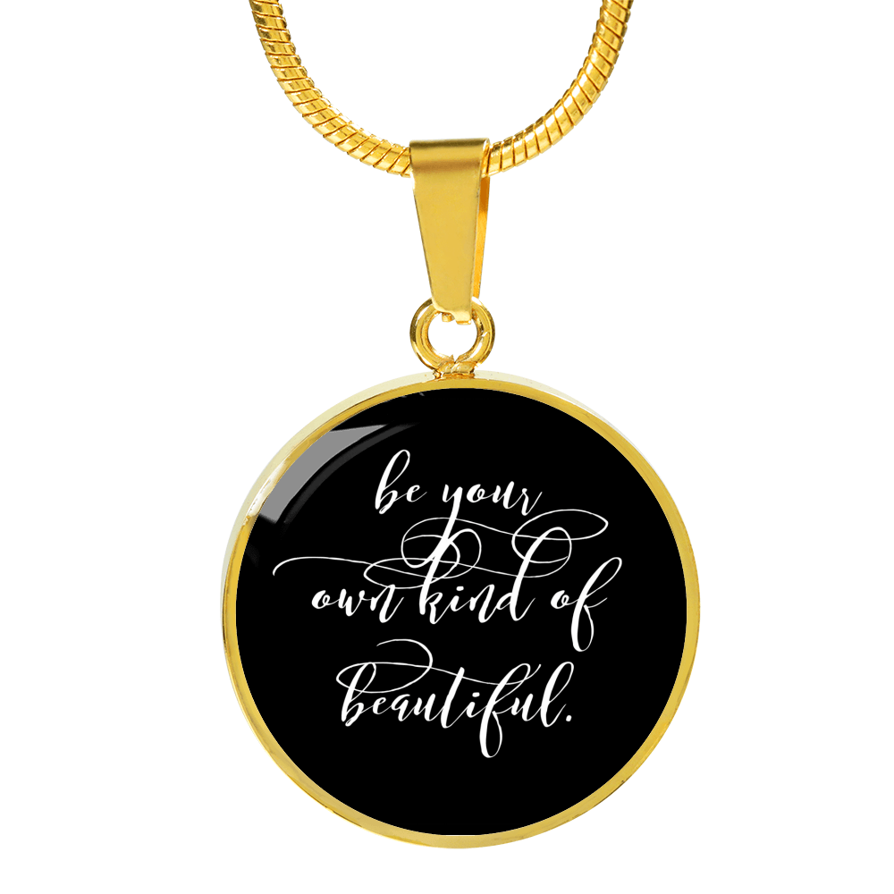"""Be your own kind of beautiful."" Luxury Bangle / Necklace - Black"
