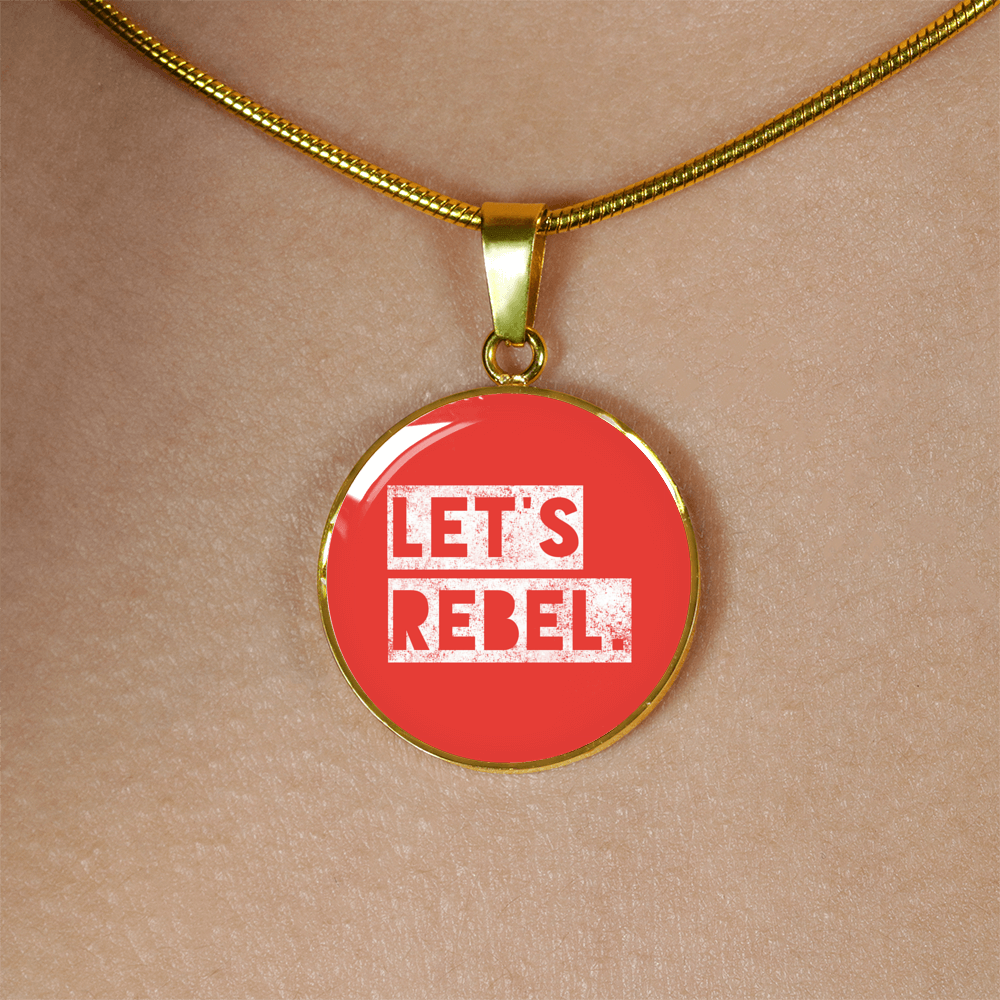 """Let's rebel."" II Luxury Bangle / Necklace - Red"