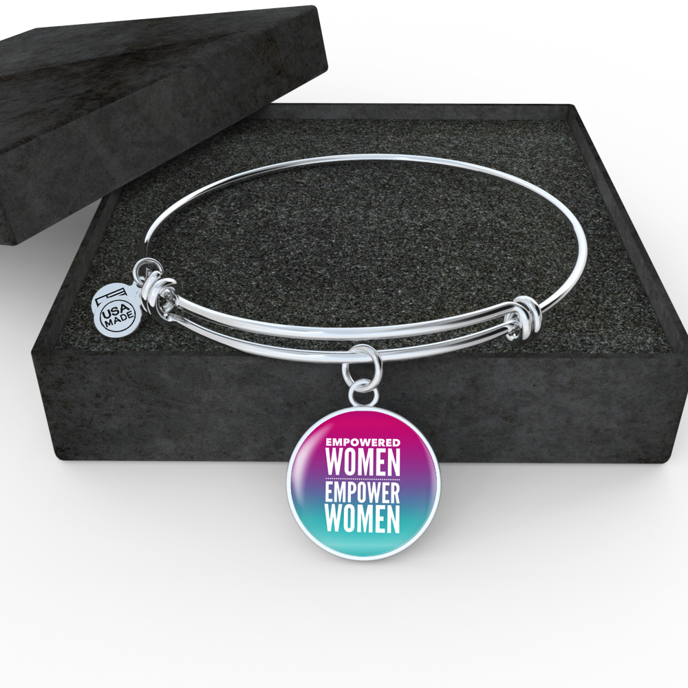 """Empowered Women Empower Women."" Luxury Bangle / Necklace - Ombre"